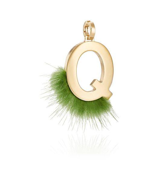 Fendi | Metallic Abclick Q Bag Charm | Lyst