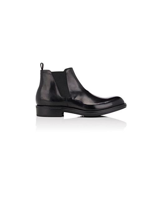 Prada   Black Leather Chelsea Boots for Men   Lyst