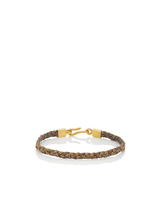 Caputo & Co. - Brown Braided Chain And Cord Bracelet for Men - Lyst