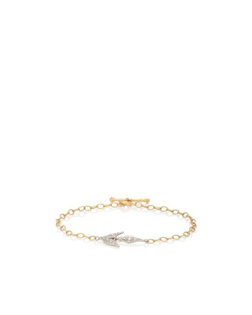 Cathy Waterman - Metallic Flexible Wheat Charm Bracelet - Lyst