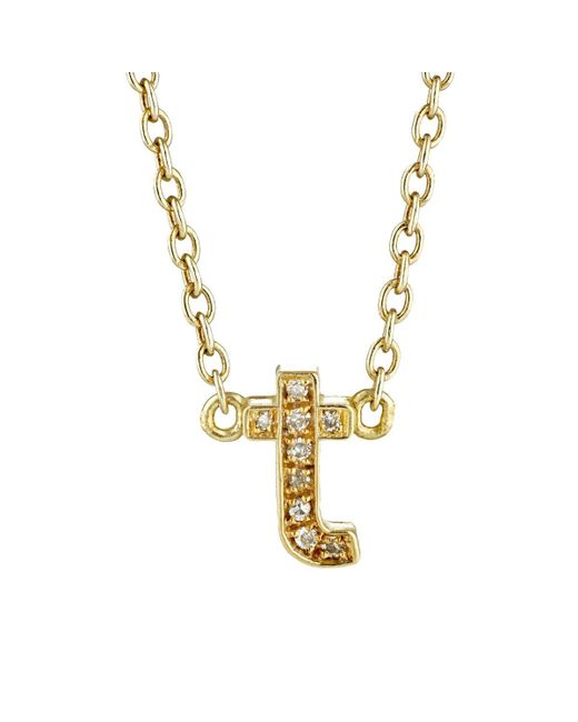 Jennifer Meyer - Metallic Initial Necklace - Lyst