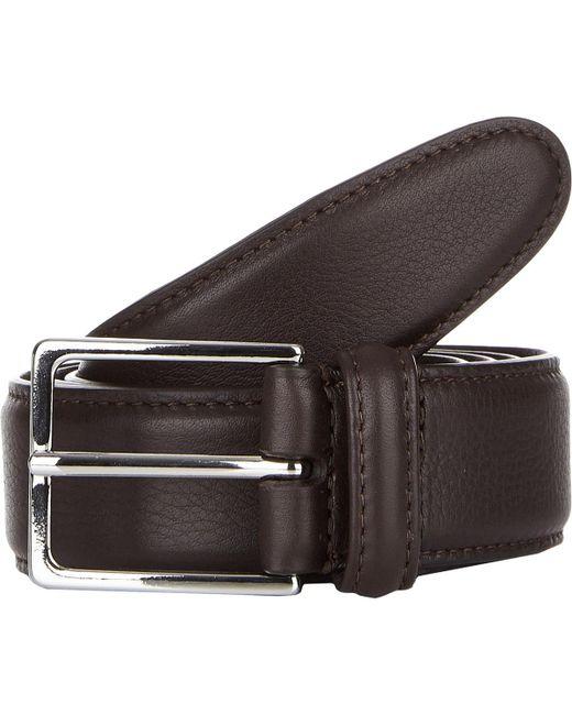 Barneys New York - Brown Stitched Edge Belt for Men - Lyst