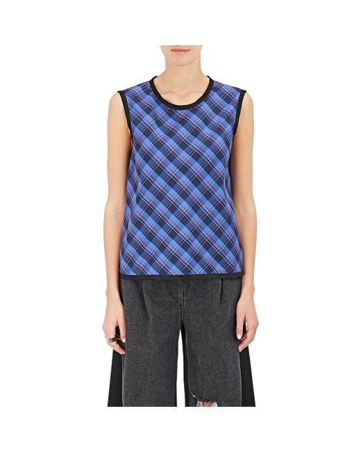 Public School | Blue Dalya Sleeveless Cotton Top | Lyst