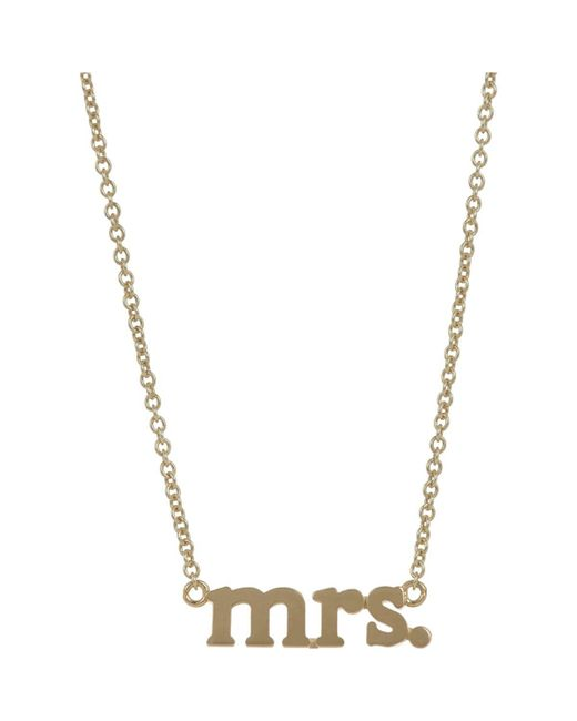 Jennifer Meyer | Metallic mrs. Pendant Necklace | Lyst