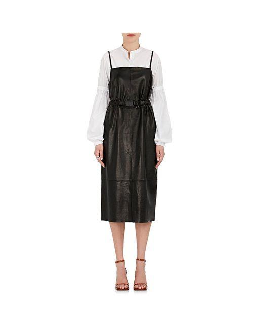 Robert Rodriguez - Black Leather Cami Dress - Lyst
