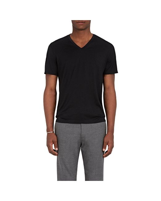 Theory - Black Claey Plaito Silk-cotton T for Men - Lyst