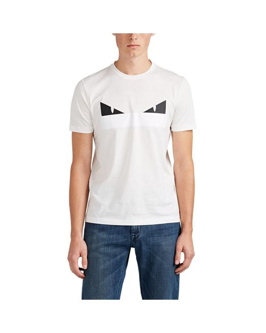 Fendi - White Bag Bugs Cotton T-shirt for Men - Lyst