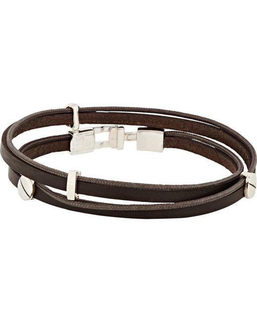 Zadeh - Brown Gavriel Wrap Bracelet for Men - Lyst