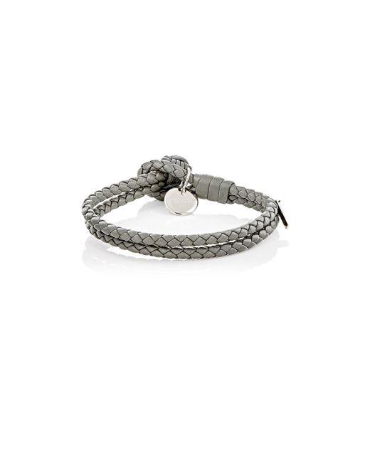 Bottega Veneta | Gray Intrecciato Leather Double | Lyst