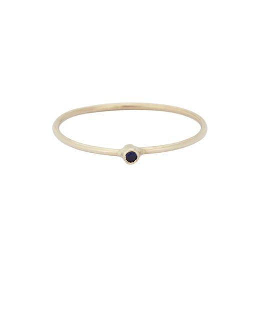 Jennifer Meyer - Metallic Sapphire Thin Ring - Lyst