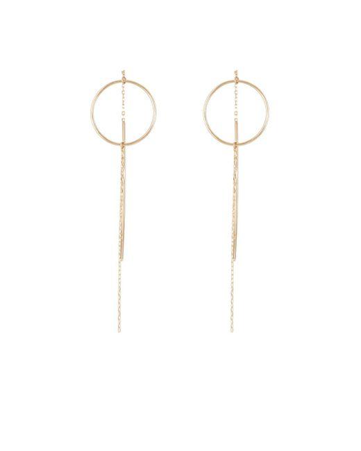 Hirotaka - Metallic Yellow Gold Wire-ring & Chain Earrings - Lyst