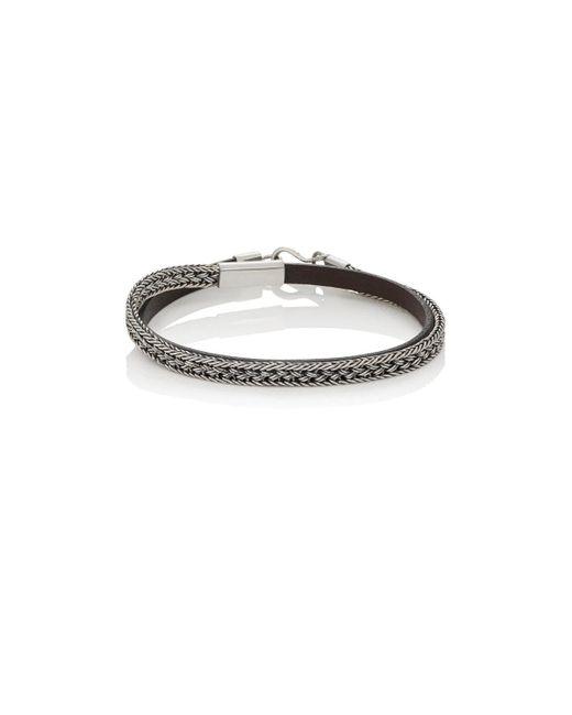 Caputo & Co. - Metallic Leather & Chain Double for Men - Lyst