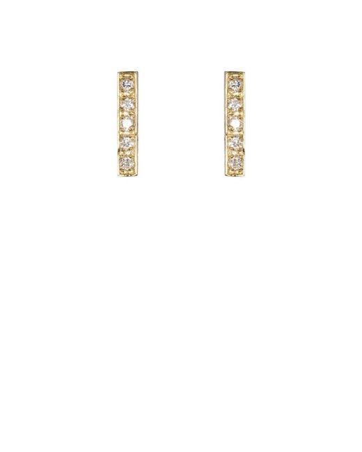 Jennifer Meyer | Natural Bar Stud Earrings | Lyst