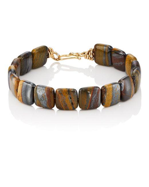 Dean Harris - Brown Tiger Iron Beaded Bracelet - Lyst
