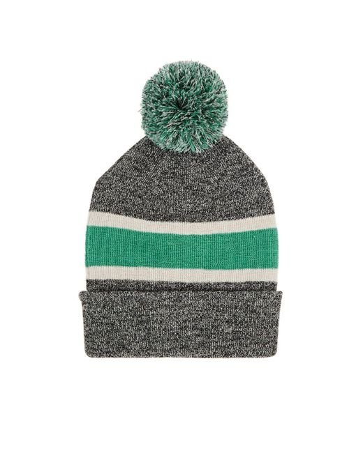 78e9bde318be Isabel Marant Halden Logo Striped Wool Beanie in Gray - Save 56% - Lyst