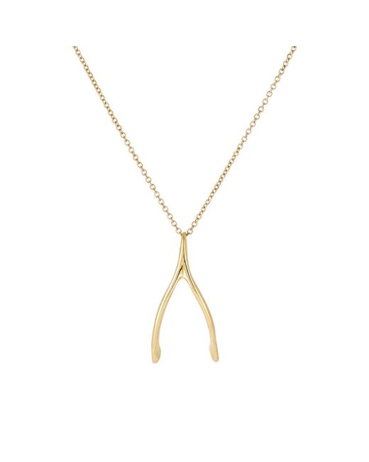Dean Harris | Metallic Wishbone Pendant Necklace for Men | Lyst