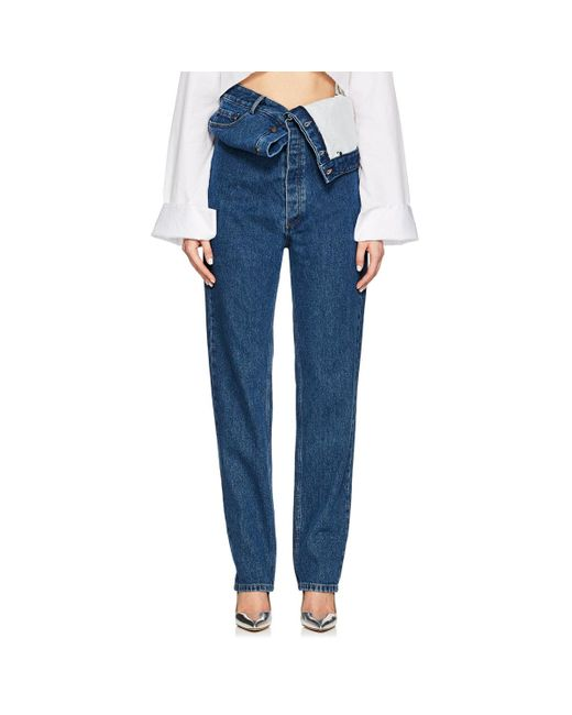 Y. Project - Blue Slim Jeans - Lyst