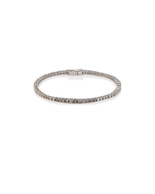 Roberto Marroni | Metallic White Diamond Tennis Bracelet | Lyst