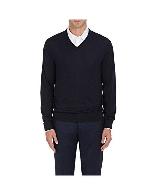 Luciano Barbera | Blue Fine-gauge Knit Wool for Men | Lyst