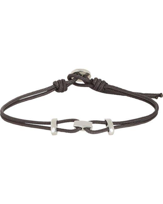 Zadeh - Black Sterling Silver & Parachute Cord Bracelet for Men - Lyst