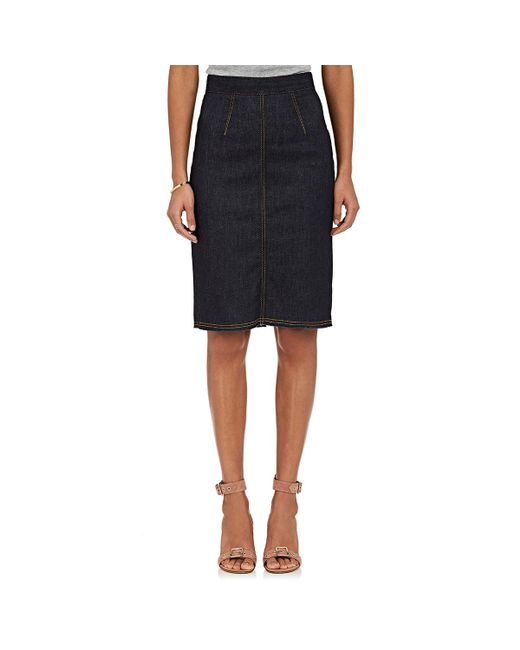 Fiorucci | Blue The Margot Denim Pencil Skirt | Lyst