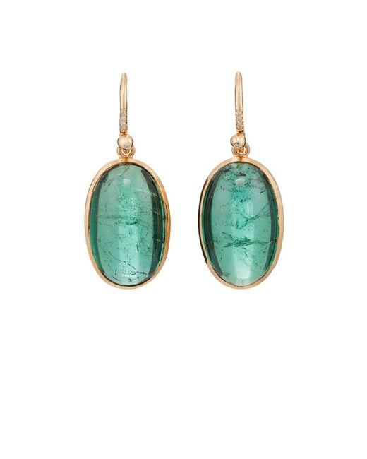 Irene Neuwirth | Green Tourmaline & Diamond Drop Earrings | Lyst