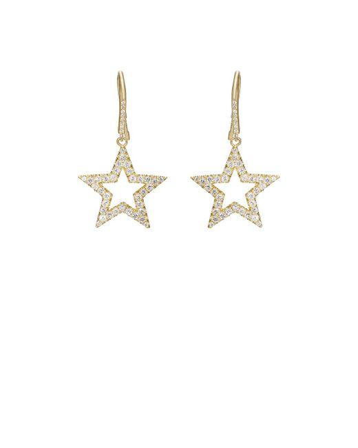 Jennifer Meyer | Metallic Open Star Drop Earrings | Lyst
