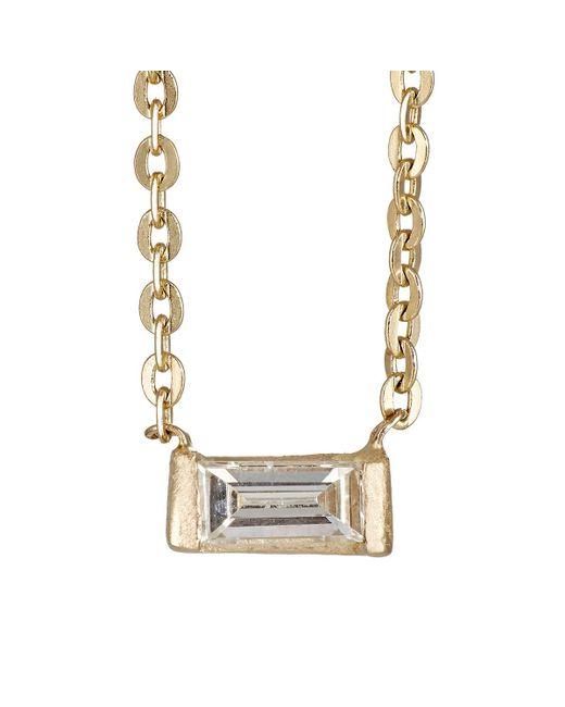 Loren Stewart | Metallic Baguette White Diamond Choker | Lyst
