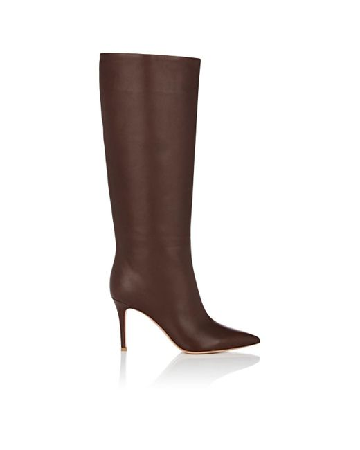 Gianvito Rossi - Brown Suzan Leather Knee Boots - Lyst