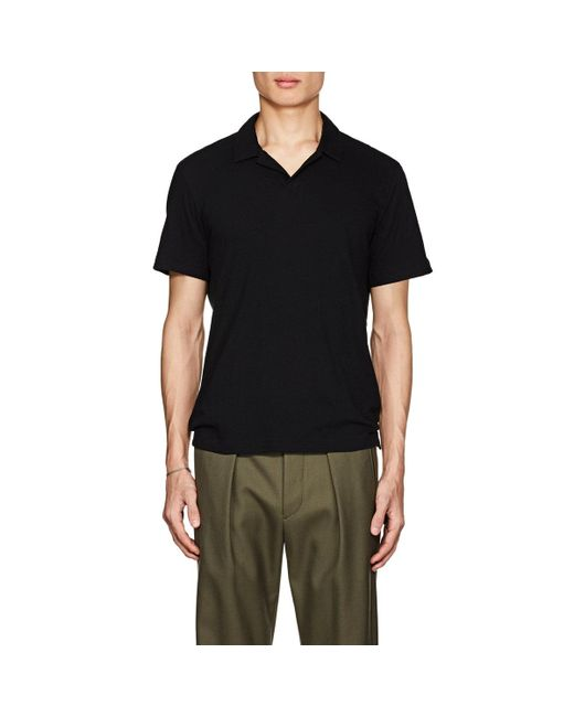 Theory - Black Slub Cotton for Men - Lyst