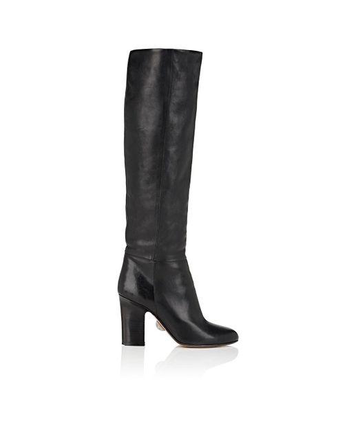 SAMUELE FAILLI - Black Stella Leather Knee Boots - Lyst
