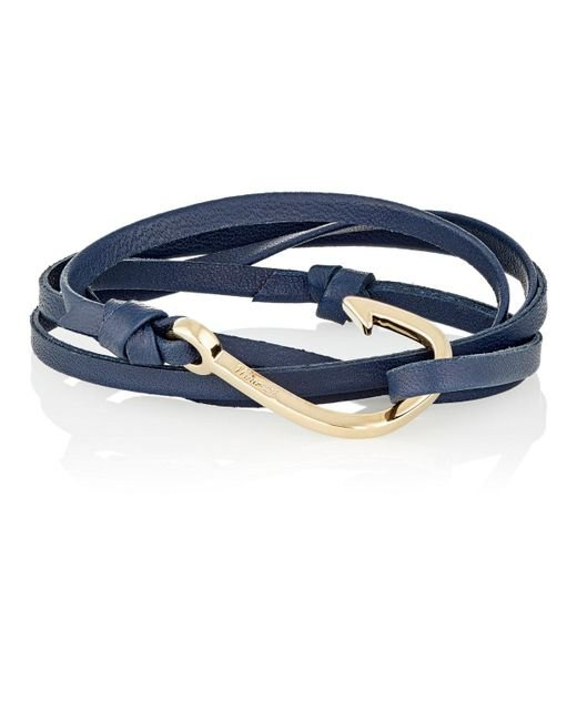 Miansai | Blue Hook On Leather Wrap Bracelet for Men | Lyst