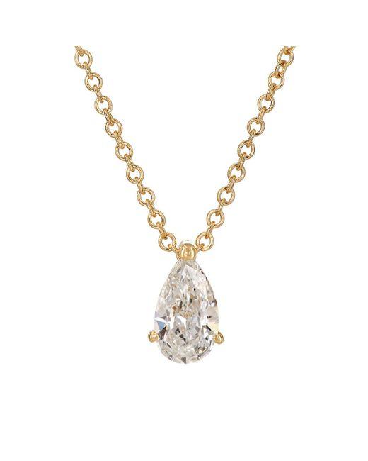 Ileana Makri - Metallic Teardrop Pendant Necklace - Lyst