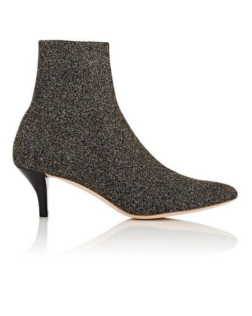 Loeffler Randall - Metallic Kassidy Knit Ankle Boots - Lyst