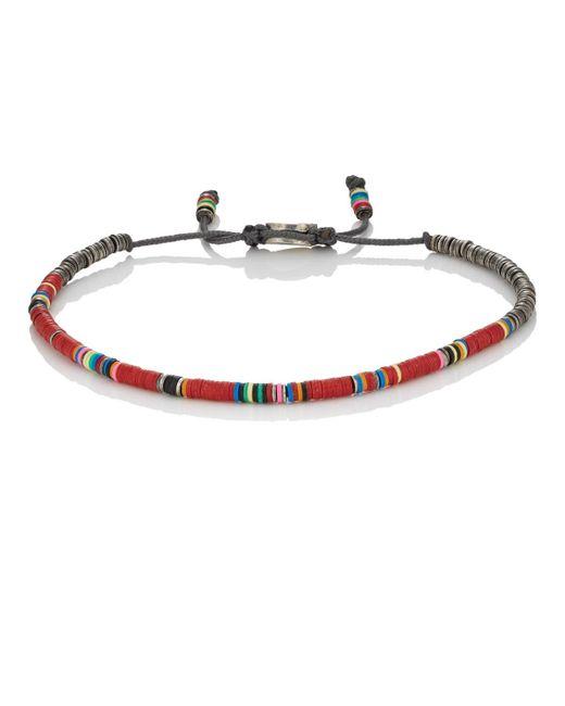 M. Cohen | Red Rondelle Bracelet for Men | Lyst