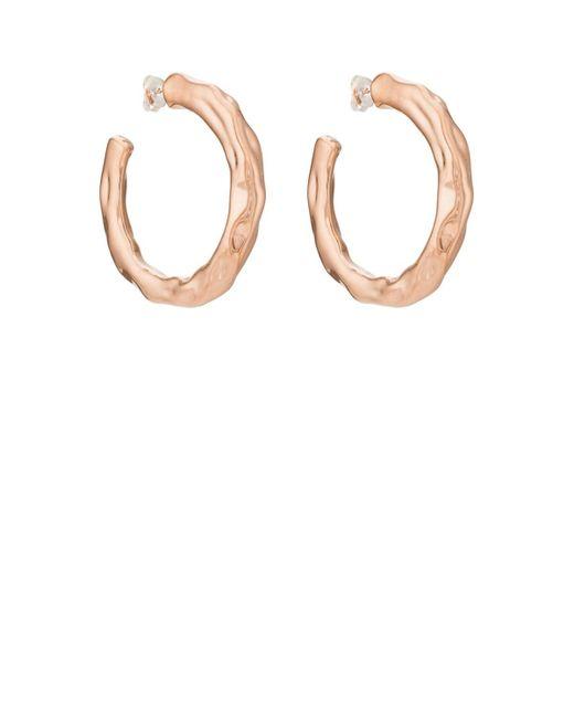 Pamela Love - Metallic Wavy Hoop Earrings - Lyst