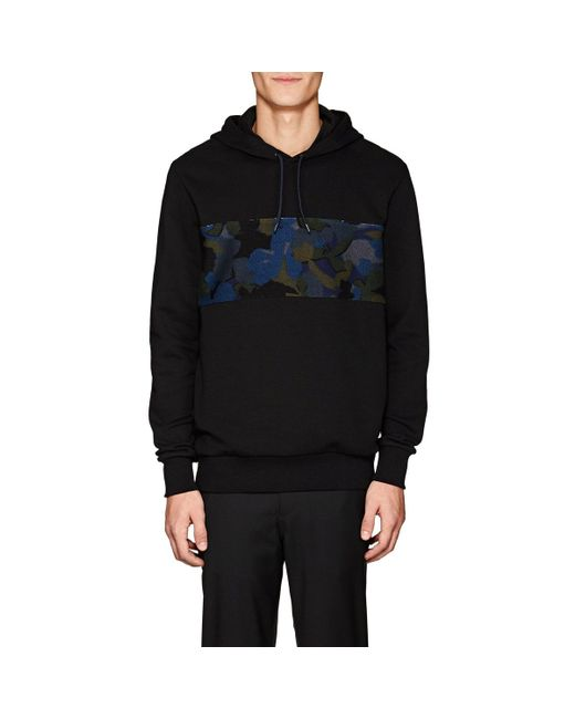 PS by Paul Smith - Black Camouflage Cotton Terry Hoodie for Men - Lyst