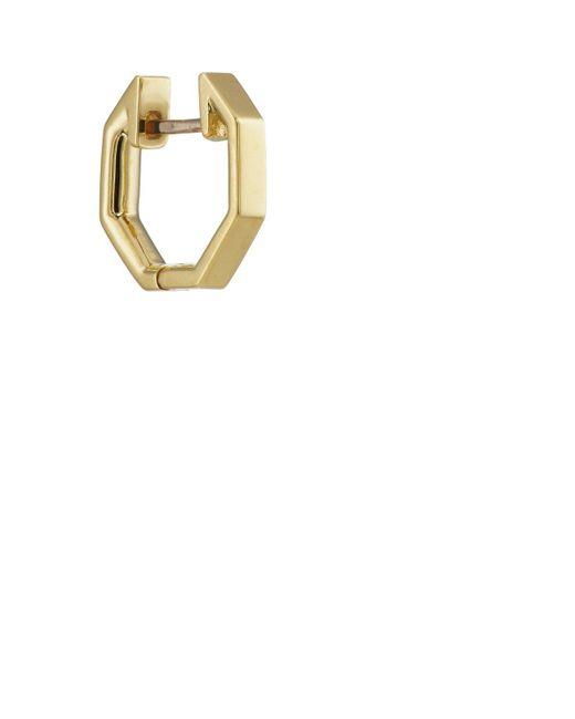 Finn - Metallic Yellow Gold Octagonal Huggie Hoop - Lyst