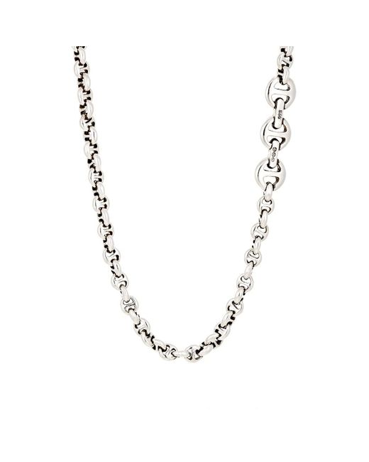 Hoorsenbuhs - Metallic Tri-link Chain Necklace for Men - Lyst