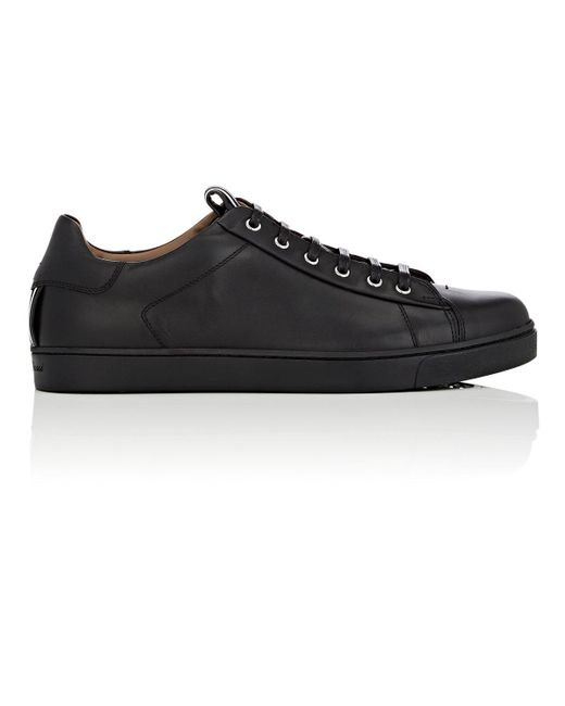 Gianvito Rossi - Black David Leather Sneakers for Men - Lyst