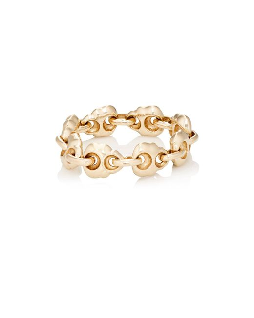 Luis Morais | Metallic Skull Chain Ring | Lyst
