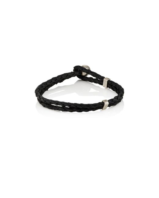 Title Of Work - Black Braided Leather Bracelet for Men - Lyst