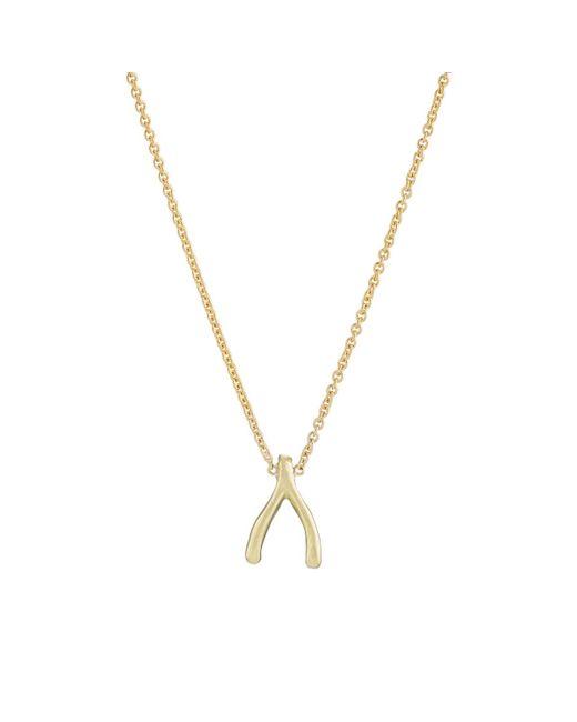 Jennifer Meyer   Metallic Wishbone Charm Necklace   Lyst