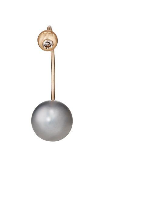 Hirotaka - Metallic Barbell Earring - Lyst