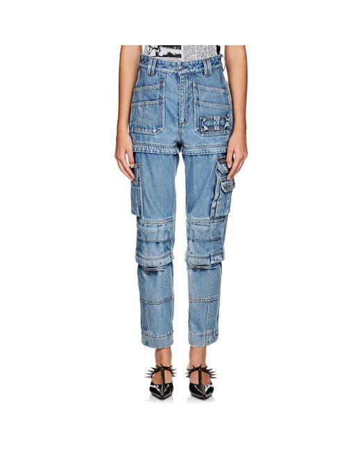 Balenciaga - Blue Convertible Cargo Jeans - Lyst