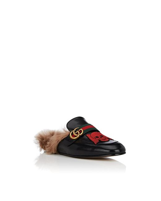6a661ec15f4 ... Gucci - Black New Princetown Embroidered Leather Slippers for Men - Lyst  ...