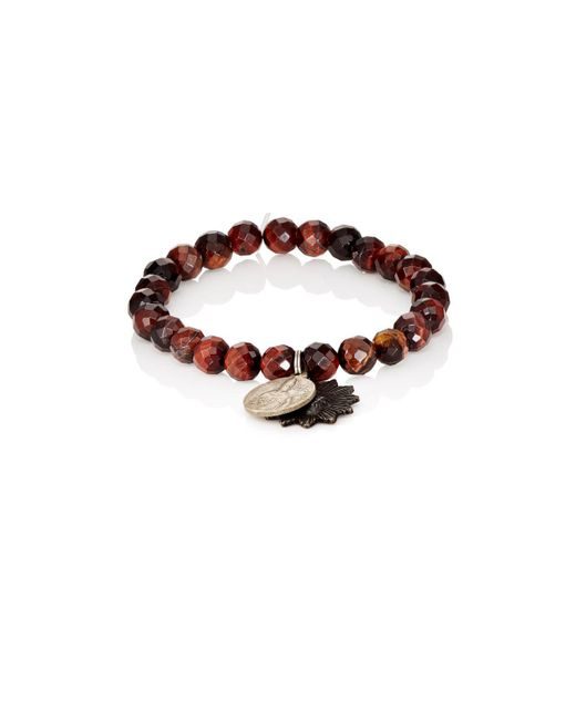 Miracle Icons | Red Charms On Beaded Bracelet | Lyst