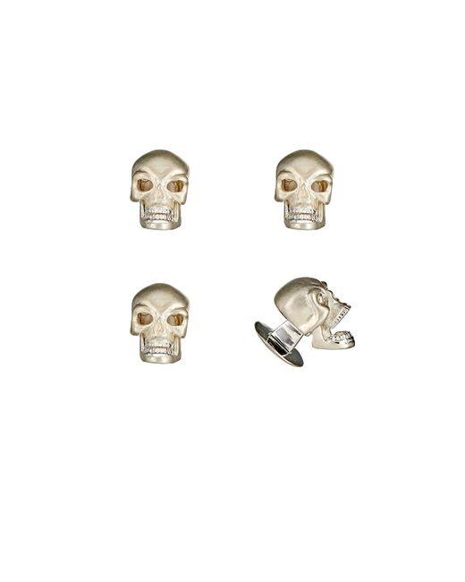 Deakin & Francis Mens Skull Shirt-Stud Set FO2iF9vC