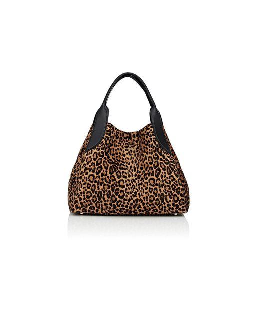 Lanvin | Brown Trapeze Calf Hair Small Tote Bag | Lyst