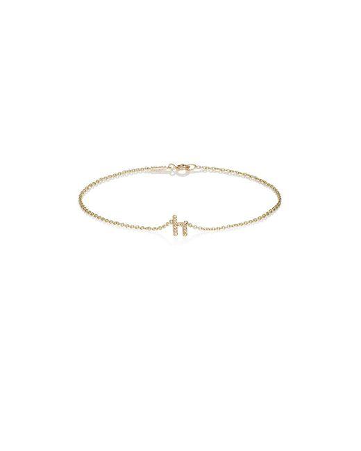 Jennifer Meyer - Metallic Initial Charm Bracelet - Lyst